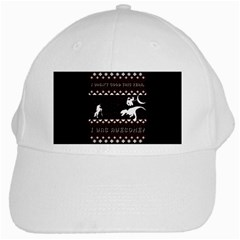 I Wasn t Good This Year, I Was Awesome! Ugly Holiday Christmas Black Background White Cap