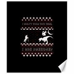 I Wasn t Good This Year, I Was Awesome! Ugly Holiday Christmas Black Background Canvas 20  x 24
