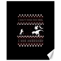 I Wasn t Good This Year, I Was Awesome! Ugly Holiday Christmas Black Background Canvas 11  X 14