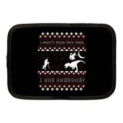 I Wasn t Good This Year, I Was Awesome! Ugly Holiday Christmas Black Background Netbook Case (medium)