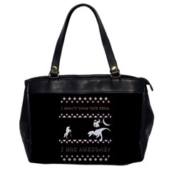 I Wasn t Good This Year, I Was Awesome! Ugly Holiday Christmas Black Background Office Handbags