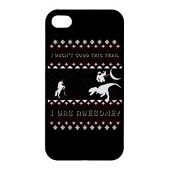 I Wasn t Good This Year, I Was Awesome! Ugly Holiday Christmas Black Background Apple iPhone 4/4S Hardshell Case