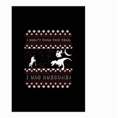 I Wasn t Good This Year, I Was Awesome! Ugly Holiday Christmas Black Background Small Garden Flag (two Sides)