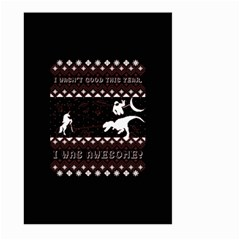 I Wasn t Good This Year, I Was Awesome! Ugly Holiday Christmas Black Background Large Garden Flag (two Sides)