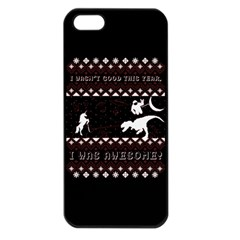I Wasn t Good This Year, I Was Awesome! Ugly Holiday Christmas Black Background Apple iPhone 5 Seamless Case (Black)