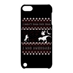 I Wasn t Good This Year, I Was Awesome! Ugly Holiday Christmas Black Background Apple iPod Touch 5 Hardshell Case with Stand