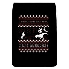 I Wasn t Good This Year, I Was Awesome! Ugly Holiday Christmas Black Background Flap Covers (S)