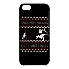 I Wasn t Good This Year, I Was Awesome! Ugly Holiday Christmas Black Background Apple Iphone 5c Hardshell Case