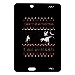 I Wasn t Good This Year, I Was Awesome! Ugly Holiday Christmas Black Background Amazon Kindle Fire Hd (2013) Hardshell Case