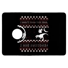 I Wasn t Good This Year, I Was Awesome! Ugly Holiday Christmas Black Background Kindle Fire HDX Flip 360 Case