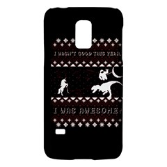I Wasn t Good This Year, I Was Awesome! Ugly Holiday Christmas Black Background Galaxy S5 Mini