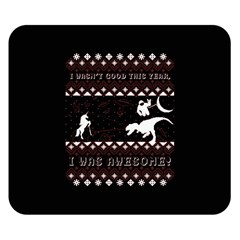 I Wasn t Good This Year, I Was Awesome! Ugly Holiday Christmas Black Background Double Sided Flano Blanket (small)
