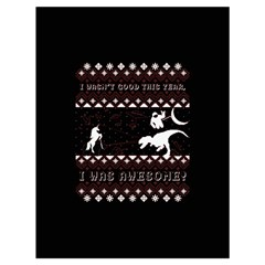 I Wasn t Good This Year, I Was Awesome! Ugly Holiday Christmas Black Background Drawstring Bag (Large)