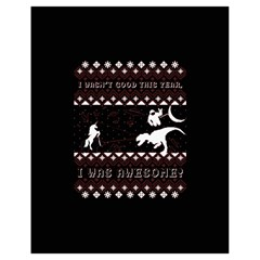 I Wasn t Good This Year, I Was Awesome! Ugly Holiday Christmas Black Background Drawstring Bag (Small)