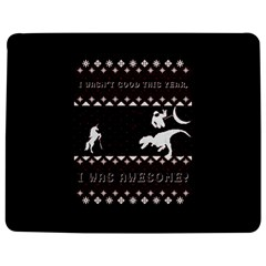 I Wasn t Good This Year, I Was Awesome! Ugly Holiday Christmas Black Background Jigsaw Puzzle Photo Stand (Rectangular)