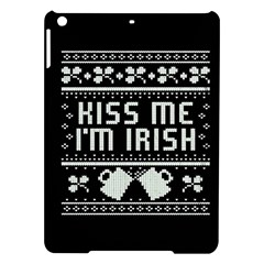 Kiss Me I m Irish Ugly Christmas Black Background iPad Air Hardshell Cases