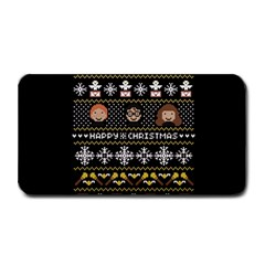 Merry Nerdmas! Ugly Christma Black Background Medium Bar Mats