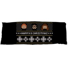 Merry Nerdmas! Ugly Christma Black Background Body Pillow Case Dakimakura (two Sides)