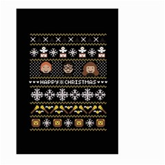 Merry Nerdmas! Ugly Christma Black Background Large Garden Flag (two Sides)