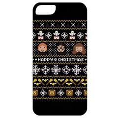 Merry Nerdmas! Ugly Christma Black Background Apple iPhone 5 Classic Hardshell Case