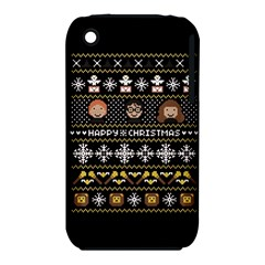 Merry Nerdmas! Ugly Christma Black Background iPhone 3S/3GS