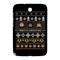 Merry Nerdmas! Ugly Christma Black Background Samsung Galaxy Note 8.0 N5100 Hardshell Case