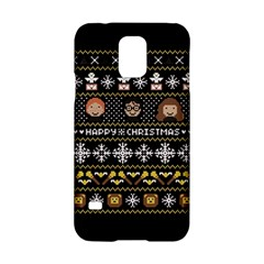 Merry Nerdmas! Ugly Christma Black Background Samsung Galaxy S5 Hardshell Case