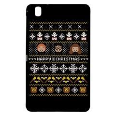 Merry Nerdmas! Ugly Christma Black Background Samsung Galaxy Tab Pro 8 4 Hardshell Case