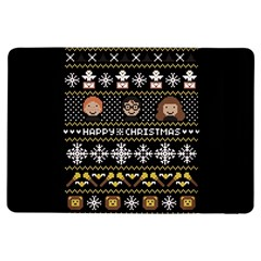 Merry Nerdmas! Ugly Christma Black Background Ipad Air Flip