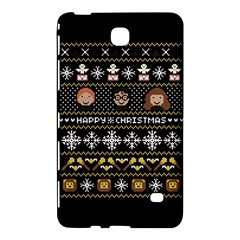 Merry Nerdmas! Ugly Christma Black Background Samsung Galaxy Tab 4 (8 ) Hardshell Case