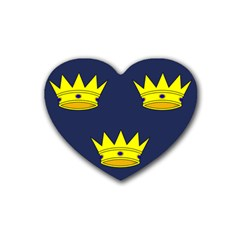 Flag of Irish Province of Munster Rubber Coaster (Heart)