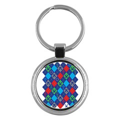 Minecraft Ugly Holiday Christmas Key Chains (round)