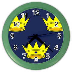 Flag of Irish Province of Munster Color Wall Clocks