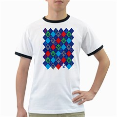Minecraft Ugly Holiday Christmas Ringer T-Shirts