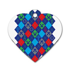 Minecraft Ugly Holiday Christmas Dog Tag Heart (One Side)