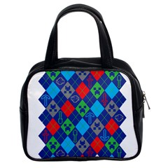 Minecraft Ugly Holiday Christmas Classic Handbags (2 Sides)