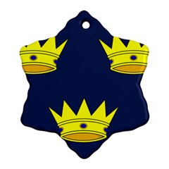 Flag of Irish Province of Munster Ornament (Snowflake)