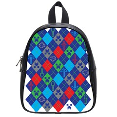 Minecraft Ugly Holiday Christmas School Bags (Small)