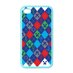 Minecraft Ugly Holiday Christmas Apple iPhone 4 Case (Color)