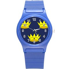 Flag of Irish Province of Munster Round Plastic Sport Watch (S)