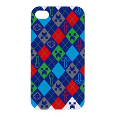 Minecraft Ugly Holiday Christmas Apple iPhone 4/4S Premium Hardshell Case
