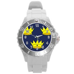 Flag of Irish Province of Munster Round Plastic Sport Watch (L)