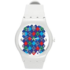 Minecraft Ugly Holiday Christmas Round Plastic Sport Watch (M)