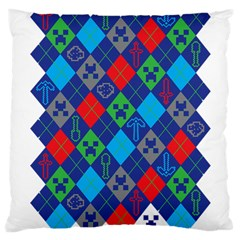 Minecraft Ugly Holiday Christmas Large Cushion Case (Two Sides)