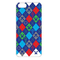 Minecraft Ugly Holiday Christmas Apple Iphone 5 Seamless Case (white)