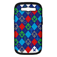 Minecraft Ugly Holiday Christmas Samsung Galaxy S Iii Hardshell Case (pc+silicone)