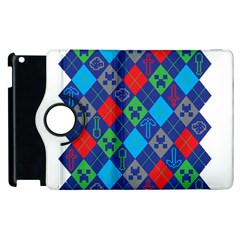Minecraft Ugly Holiday Christmas Apple iPad 3/4 Flip 360 Case