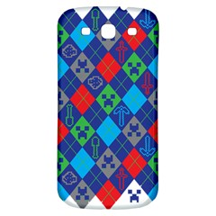 Minecraft Ugly Holiday Christmas Samsung Galaxy S3 S III Classic Hardshell Back Case