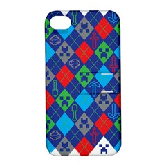 Minecraft Ugly Holiday Christmas Apple iPhone 4/4S Hardshell Case with Stand