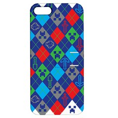 Minecraft Ugly Holiday Christmas Apple iPhone 5 Hardshell Case with Stand